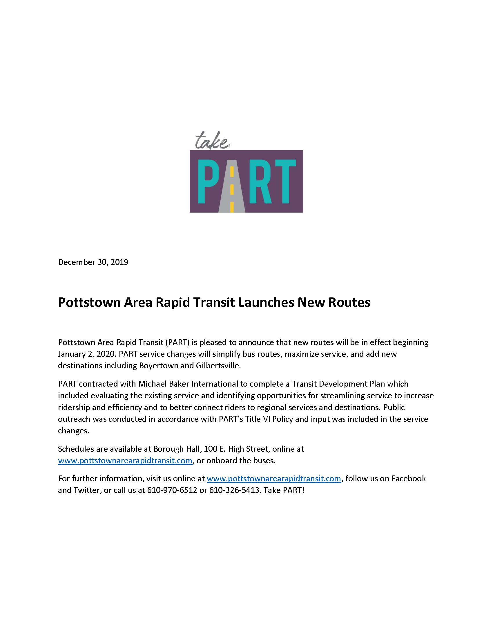 2020 New Routes Press Release
